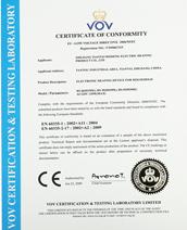 日盛电热CE证书