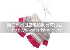 USB电热手套,男女通用电热半指手套